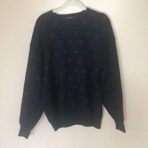 Brooks Brothers men sweater L vintage wool blue